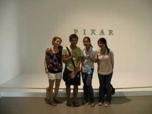 My Buddy and friends at Pixar exhibit in Taipei