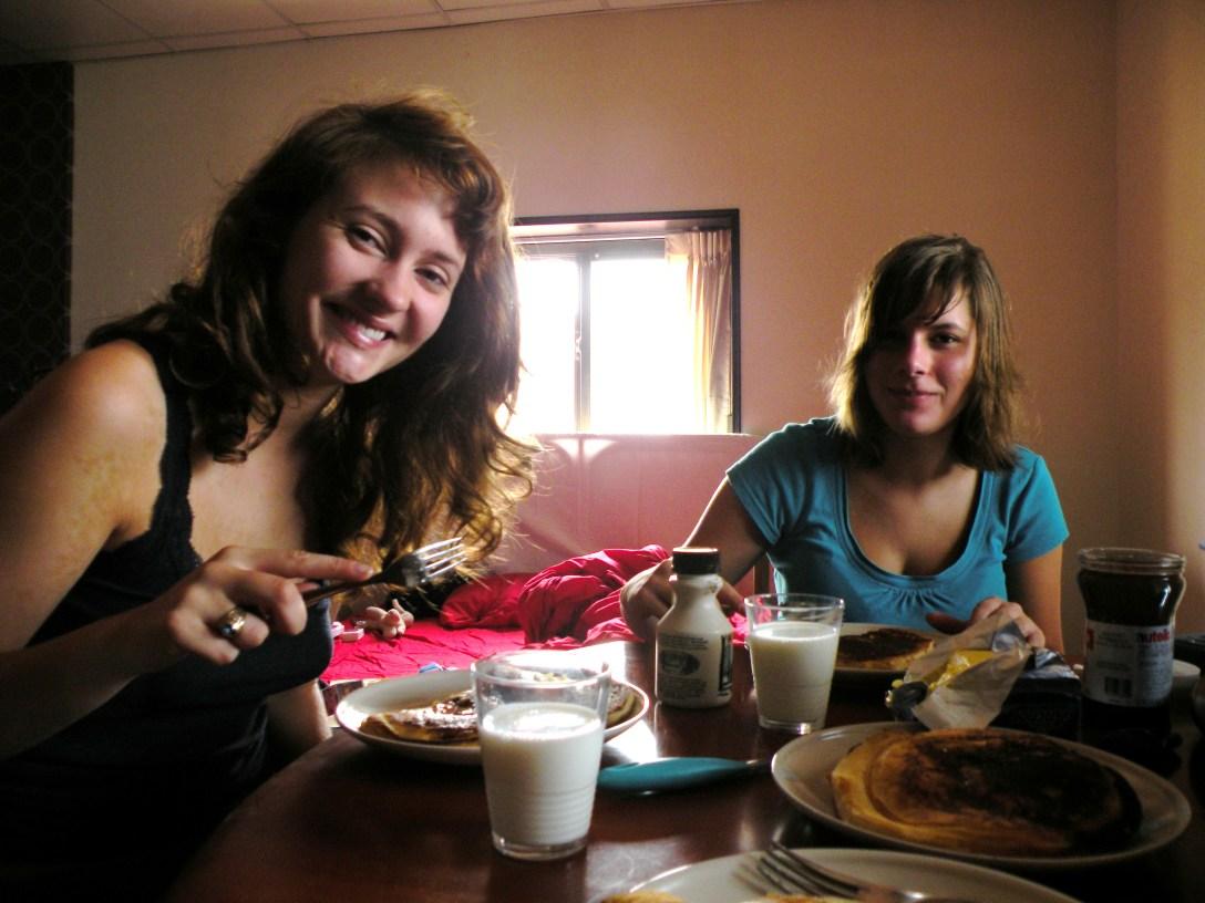Good food, Good roommates, Good day